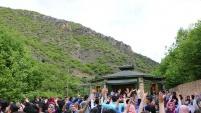 Üniversiteli öğrenciler önce Tomara sonra Limni Gölünde coştu