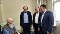 Başkan Çimen'den hasta ziyaretleri