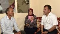 Başkan Çimen'den şehit öğretmen Necmettin Yılmaz'ın ailesine taziye ziyareti