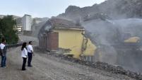 36 yıllık mezbahane yıkıldı