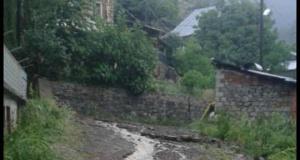 Şiddetli yağmur Torul'u vurdu