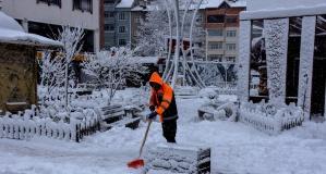 Gümüşhane Belediyesinden kar mesaisi