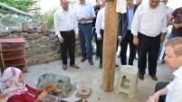 Vali Yavuz Dölek Köyünde İncelemelerde Bulundu