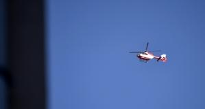 Rize'den havalanan ambulans helikopter Gümüşhane'ye hasta nakletti