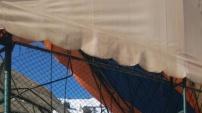 Gümüşhane Üniversitesinde halı saha çöktü