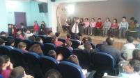 Yazar Cumhur Turan, Yusuf Çiftçioğlu İlkokulunda öğrencilerle buluştu