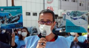 Dönmeyen #döner #sermaye için eylem yaptılar