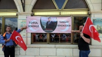 Torul'da öğretmenimiz için Cuma namazı çıkışında dua edildi