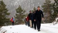 Gümüşhane'de dağcılar yılın son yürüyüşünü gerçekleştirdi