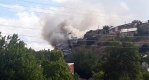 Tekke'de korkutan yangın
