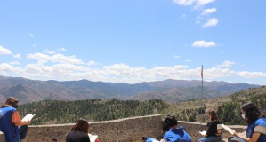 Gençler Kov Kalesinde tarih yolculuğuna çıktı
