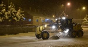 Zigana geçidinde kar yağışı etkili oluyor