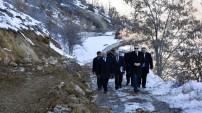 Karaca mağarasında yol genişletme ve altyapı çalışmaları başladı
