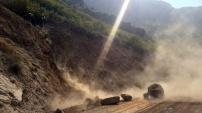 Gümüşhane'nin köy yollarındaki tehlikeler bertaraf ediliyor
