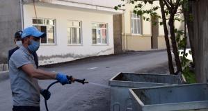 Torul'da Ramazan Bayramı öncesi sokak ve caddeler dezenfekte ediliyor