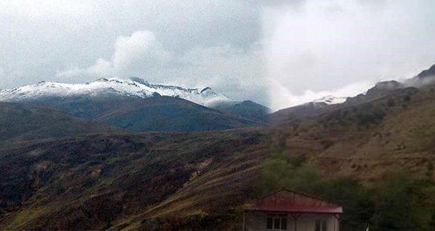 Gümüşhanenin yükseklerine yılın ilk karı yağdı