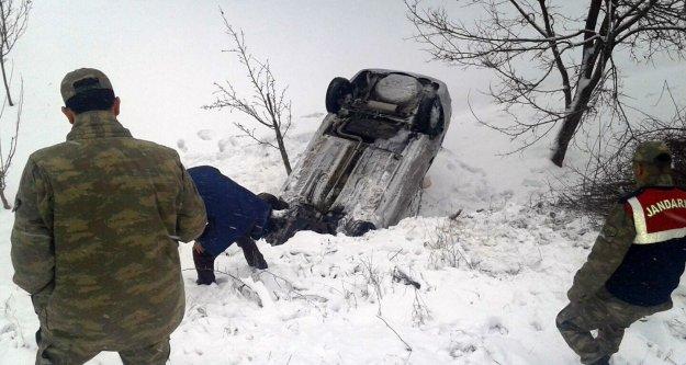 Gümüşhane'de kaza: 2 yaralı