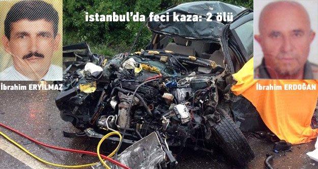 İstanbul'da feci kaza: 2 ölü