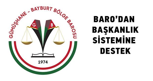 Baro'dan Başkanlık sistemine tam destek