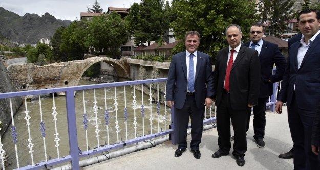 Başkan Çimen, Karayolları Bölge Müdürü ile incelemelerde bulundu