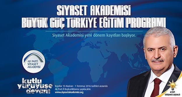 AK Partide Siyaset Akademisi başlıyor
