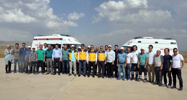 Gümüşhanede ambulans şoförlerine ASTE eğitimi verildi