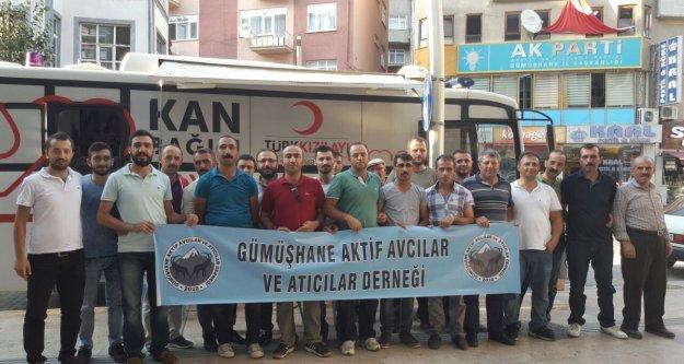 Gümüşhaneli avcılardan 30 Ağustosta 32 ünite kan bağışı