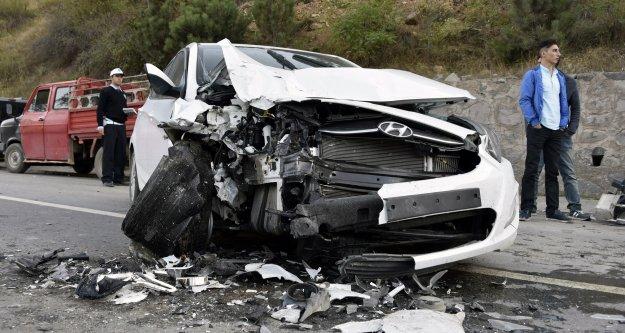 Gümüşhanede trafik kazası: 1 yaralı