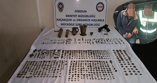 Gümüşhaneden tarihi eser kaçıranlar Giresunda yakalandı