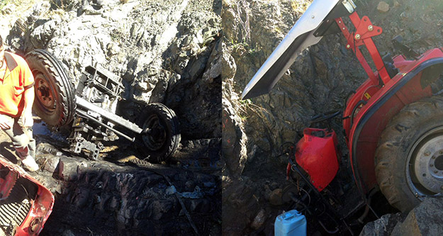 Kelkitte traktör kazası