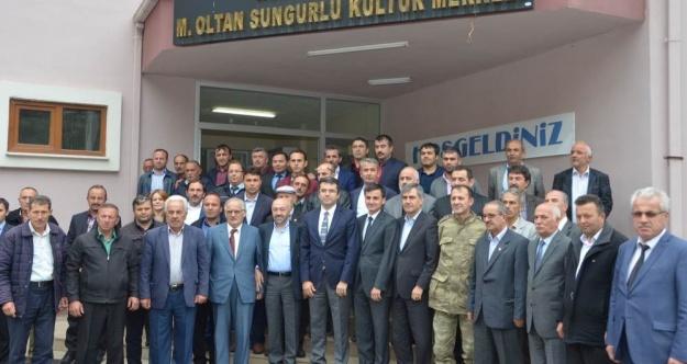 Kürtünde köy ve mahalle muhtarlarıyla istişare toplantısı