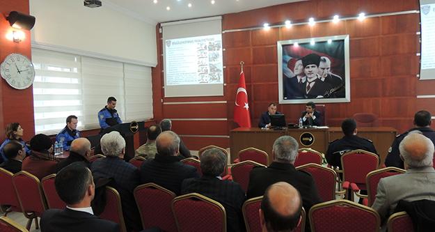 Kent Güvenlik Danışma Kurulu yılsonu toplantısı yapıldı