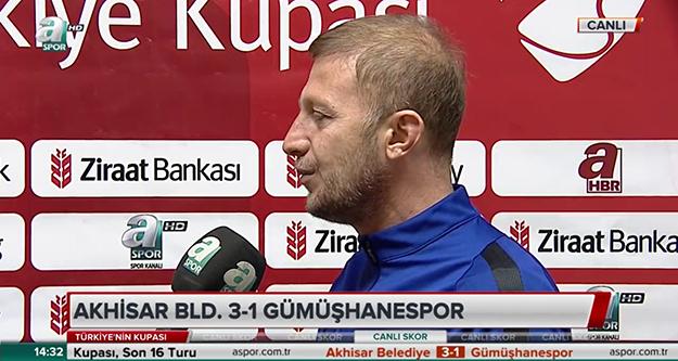 'Kupa boyunca 3 süper lig temsilcisiyle karşılaştık'