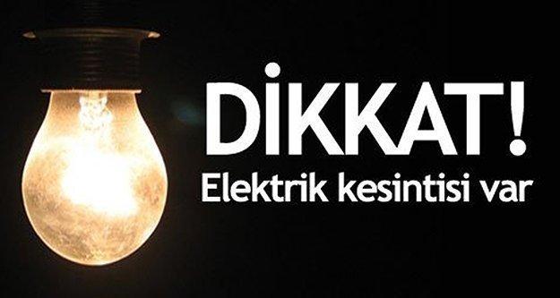 Dikkat! Pazar günü il genelinde elektrik kesintisi var