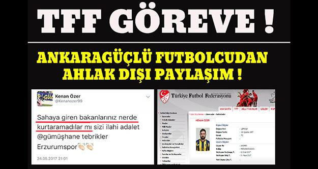 Ankaragüçlü futbolcudan tepki çeken paylaşım