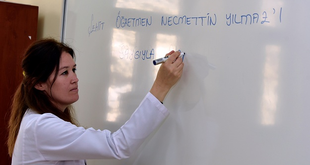 Şehit Öğretmen Necmettin Yılmaz'ın adının verildiği okulda yeni dönem hüzünlü başladı