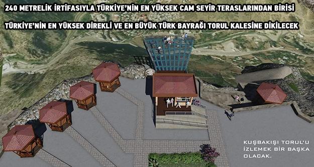 Torul Kalesinin cam seyir terası ihale edildi
