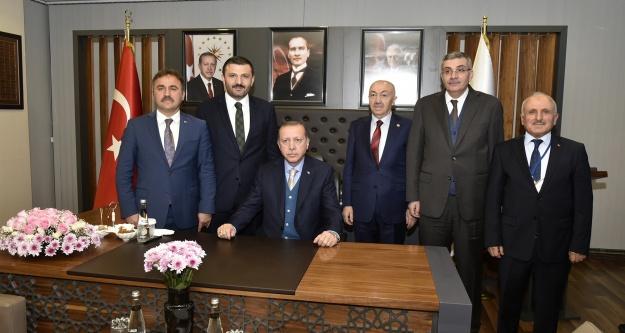 Cumhurbaşkanı Erdoğan#039;dan Başkan Çimen#039;e ziyaret