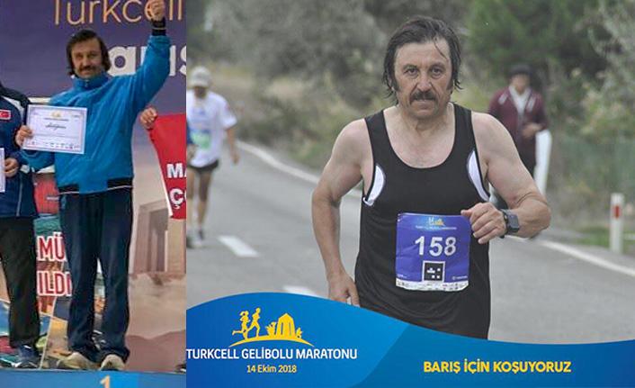 Rekortmen Tozlu, Gelibolu Maratonunda birinci oldu