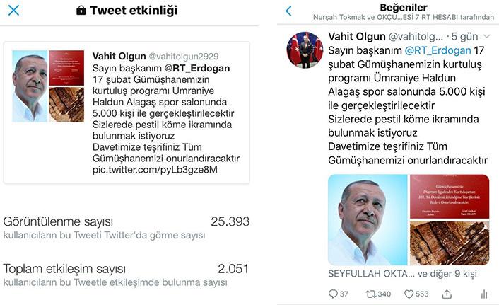 GÜDEF Cumhurbaşkanı Erdoğan'ı pestil-köme yemeye davet etti