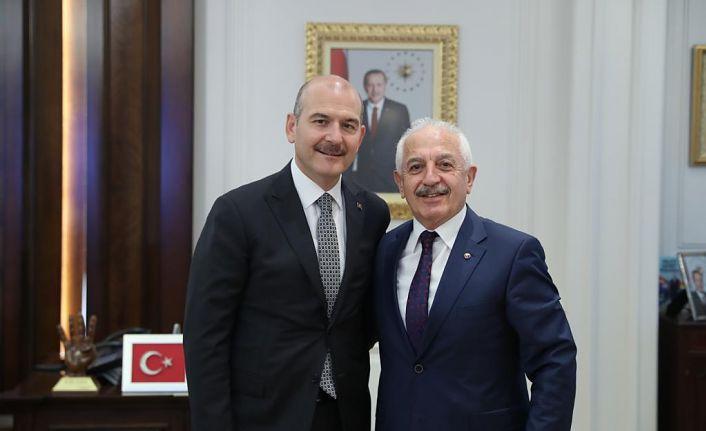 GTSO Başkanı Akçay, Bakan Soylu'yu ziyaret etti