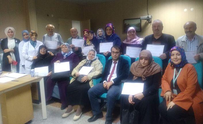 Gümüşhane Devlet Hastanesi Diyabet Okulu İlk Mezunlarını Verdi