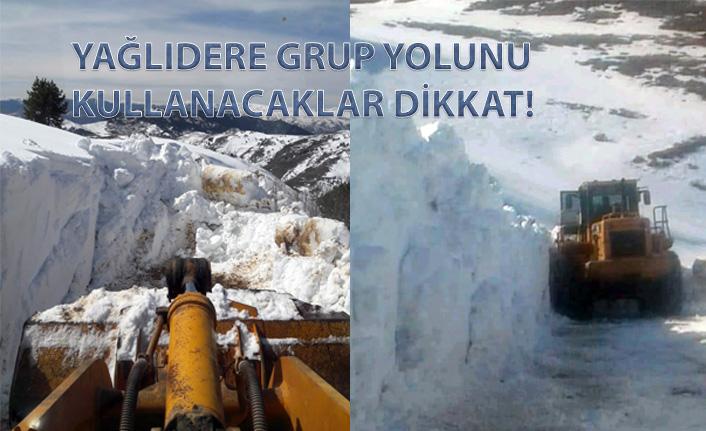 Gümüşhane'de ekipler mart ayında karla mücadele yapıyor