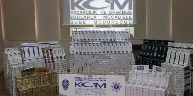 Gümüşhane'de 24 Bin Paket Gümrük Kaçağı Sigara Ele Geçirildi