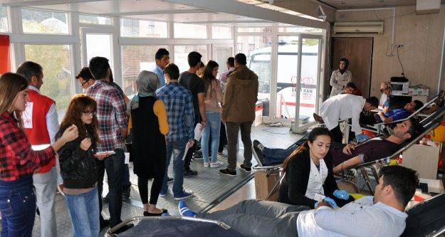 Gümüşhanede Kan Bağışlayanların Yüzde 60ı Öğrenci