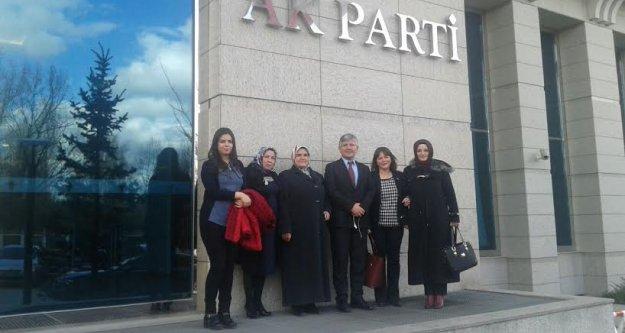 Kadın Kolları İlçe Başkanları Milletvekili Aydın'la Bir Araya Geldi
