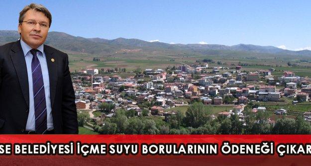 Köse Belediyesi İçme Suyu Borularının Ödeneği Çıkarıldı