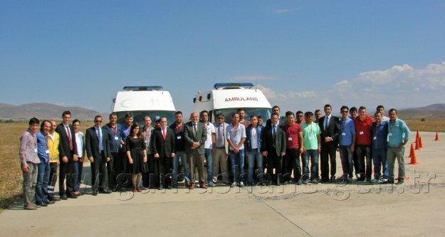 Köse Havaalanında Ambulans Sürüş Eğitimi Yapıldı