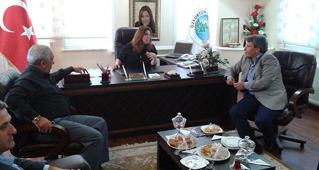Özkürtün Belediye Başkanı Aynur Zorlukaya'dan Milletvekili Üstün'e Teşekkür