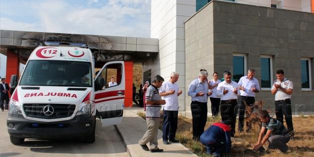Şiran'da Yanan Ambulansın Yerine Yenisi Geldi